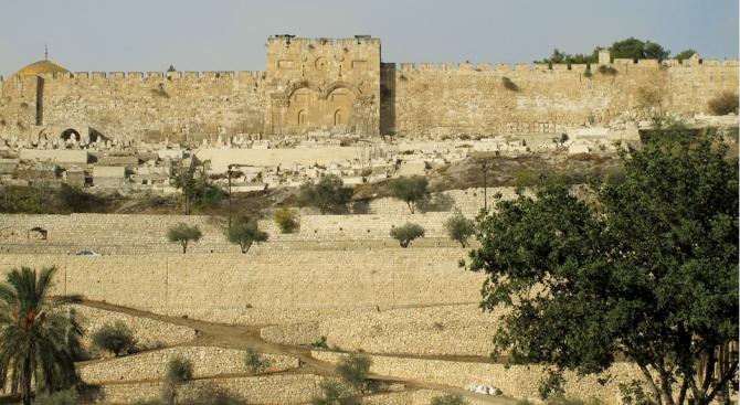В Града на Давид, т.е. в стария град в Ерусалим