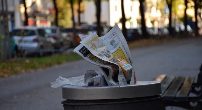 Перничани са изхвърлили 49,177 т хартиени и картонени опаковки в