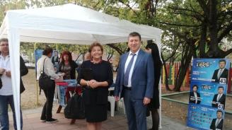 Кандидатът на ГЕРБ за кмет на община Родопи проведе предизборна среща с жители на с. Белащица