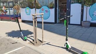 Граждани споделят опита си с придвижването на електрическа тротинетка в София