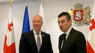 Росен Желязков и премиерът на Грузия обсъдиха развитието на транспортната и дигиталната свързаност през Черно море
