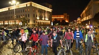 """Велосипедисти протестират с """"Поход за живот"""" в центъра на София"""