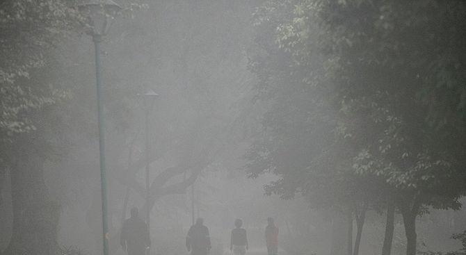 Снимка: Самолетите не могат да кацат в Делхи