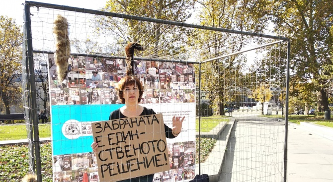 Природозащитници протестират в клетка до НС