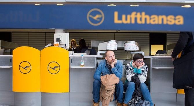 """""""Луфтханза"""" отмени 1300 полета заради предстоящата двудневна стачка"""