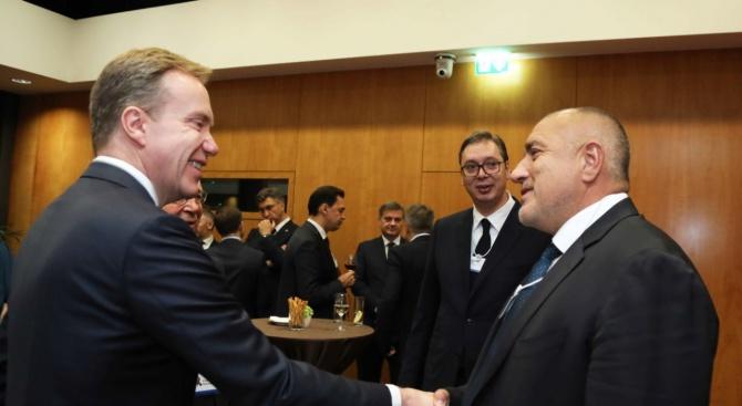 С другите участници в лидерската среща, посветена на стратегическия диалог