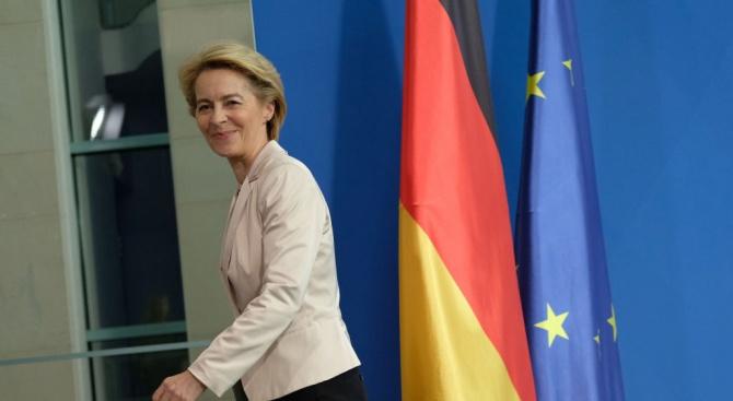 Новоизбраният председател на Европейската комисия Урсула фон дер Лайен оказва