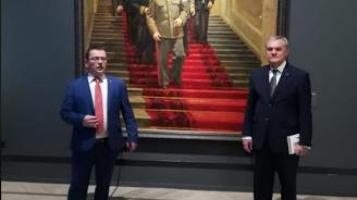 Румен Петков посети изложба в Москва, открита от Путин