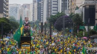 Хиляди протестираха в Сао Пауло срещу освобождаването на Лула