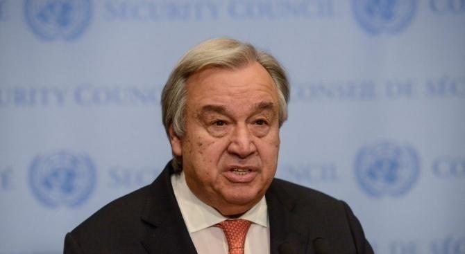 ООН заяви, че генералният секретар Антониу Гутериш е сериозно обезпокоен