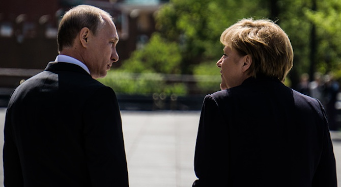 Руският президент Владимир Путин и германският канцлер Антела Меркел обсъдиха