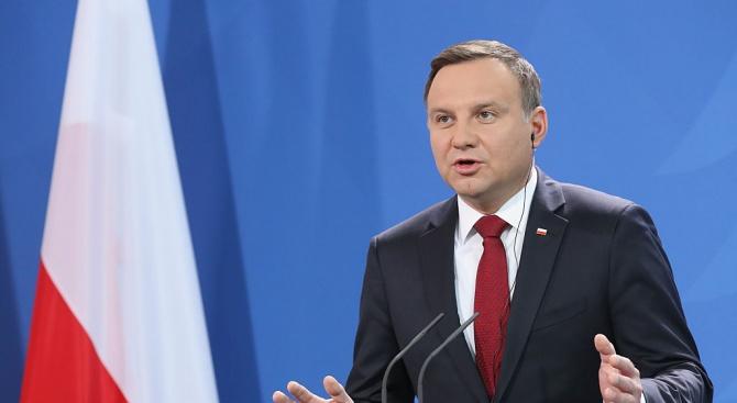 Президентът на Полша Анджей Дуда прикани днес депутатите в Сейма,