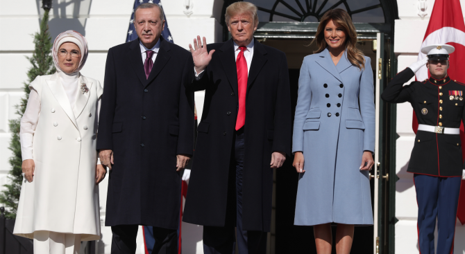 Турският президент Реджеп Тайип Ердоган пристигна днес в Белия дом,