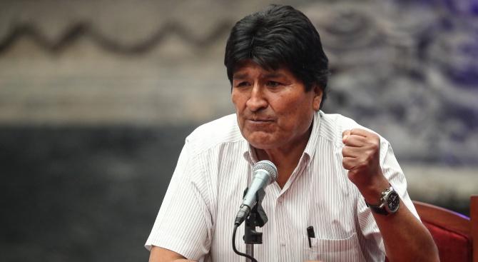 Подалият оставка президент на Боливия Ево Моралес каза днес, че