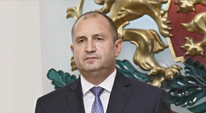 Държавният глава Румен Радев изпрати съболезнователен адрес до президента на