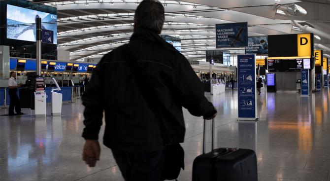 Британската полиция задържа днес на лондонското летище Хийтроу 26-годишен мъж,