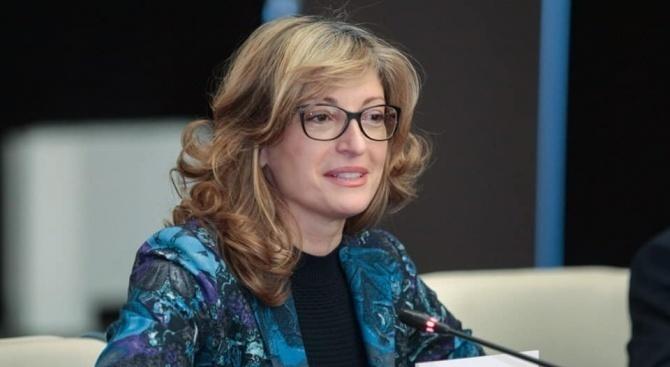 Заместник министър-председателят и министър на външните работи Екатерина Захариева пристигна