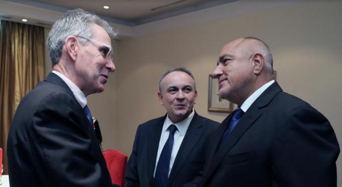 Министър-председателят Бойко Борисов се срещна с посланика на Съединените американски