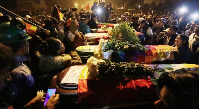 Четирима души са били убити вчера при протестите в Боливия,