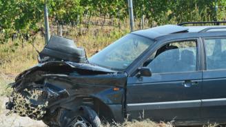 Шофьор пострада след удар в мантинела