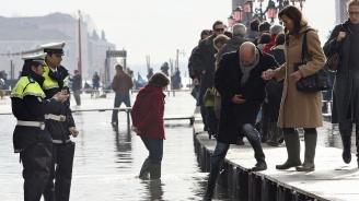 Високата вода във Венеция пред рекорд