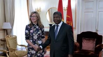 Вицепремиерът Екатерина Захариева се срещна с президента на Ангола