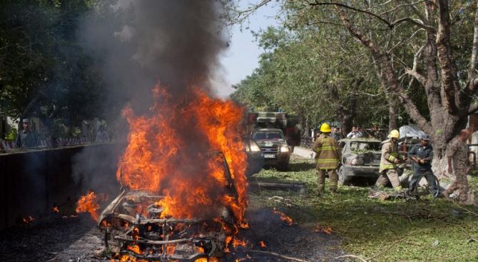 Полицейски автомобил е горял в град Лом, няма пострадали. Това