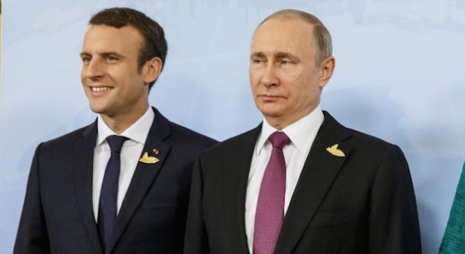 Путин и Макрон обсъдиха по телефона ситуацията в Украйна