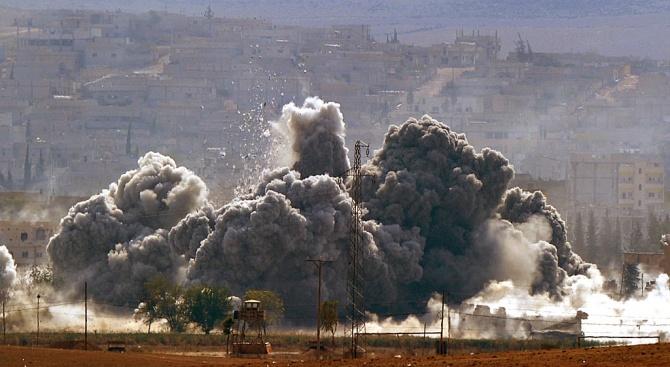 Експлозии бяха чути край летището в Дамаск