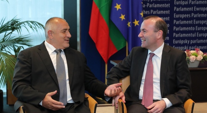 Вебер: Постоянните усилия на Борисов и България се отплащат