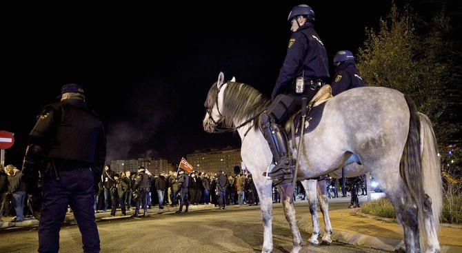 Хиляди португалски полицаи и жандармеристи в цивилни дрехи участваха днес