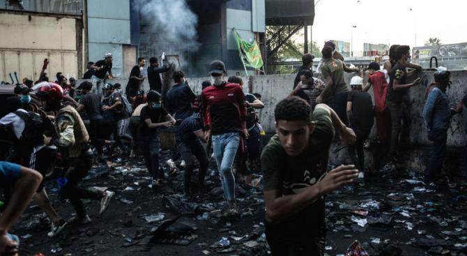 Най-малко 7 души бяха убити днес, когато иракските сили за