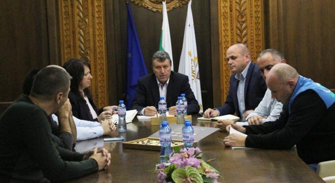 Кметът на Община Банско Иван Кадев и неговият екип проведоха