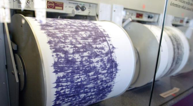 Земетресение с магнитуд 3,6 беше регистрирано днес в района на