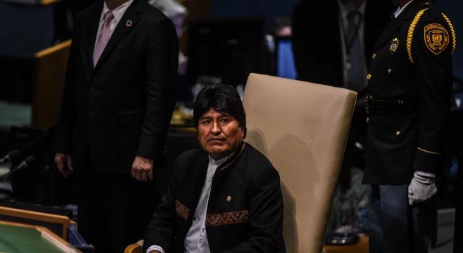 Временното правителство на Боливия обвини днес бившия президент Ево Моралес