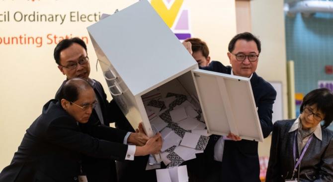 Рекордна избирателна активност в Хонконг