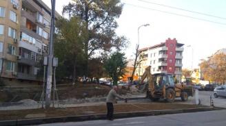Пропадна част от новоизградена улица във Варна
