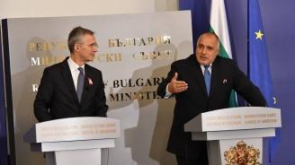 Борисов към Столтенберг: Националната сигурност и отбрана на България са гарантирани само в рамките на НАТО