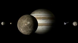 Астрономи откриха огромни водни запаси в атмосферата на юпитеровата луна Европа