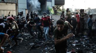 Най-малко 7 убити в сблъсъци между протестиращите и силите за сигурност в Багдад