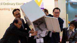 Опозицията в Хонконг получава почти 90 процента от местата в районните съвети след вчерашните избори
