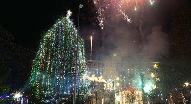 Кметът на Варна запали светлините на Коледната елха