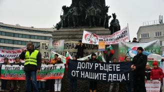 Протестиращи се събраха пред Народното събрание против Стратегията за детето