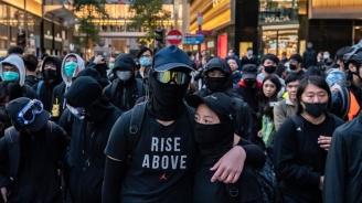 В протеста в Хонконг са участвали 183 000 души, според полицията