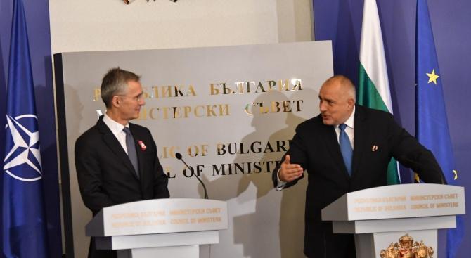 Борисов се среща с шефа на НАТО в четвъртък