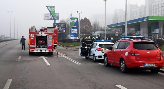 """Възстановено е движението по бул. """"Цариградско шосе"""" след инцидента"""