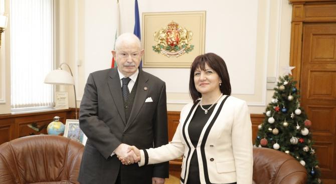 Цвета Караянчева разговаря с Великия магистър на Малтийския орден