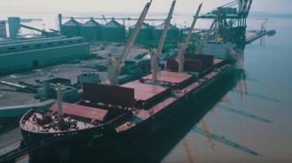Вдигнаха флага на третия 45 500-тонен кораб, поръчан от Параходство БМФ в китайска корабостроителница