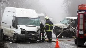 Тежка катастрофа на пътя Русе-Бяла, четирима са ранени