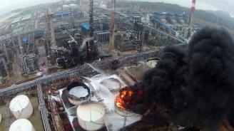 Пожар избухна в завод за рециклиране на индустриални отпадъци близо до Барселона